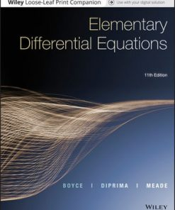 Solution Manual for Elementary Differential Equations 11th Edition William E. Boyce