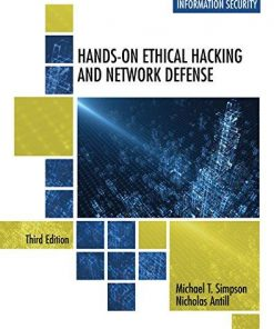 Test Bank for Hands-On Ethical Hacking and Network Defense 3rd Edition Michael T. Simpson