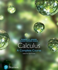Test Bank for Calculus: A Complete Course 9th Edition Robert A. Adams