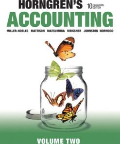 Solution Manual for Horngren's Accounting, Volume 2 10th Canadian Edition Tracie Miller-Nobles