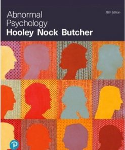 Test Bank for Abnormal Psychology 18th Edition Hooley