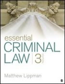 Test Bank for Essential Criminal Law 3rd Edition Lippman