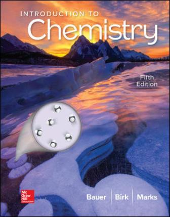 Test Bank for Introduction to Chemistry 5th Edition Bauer