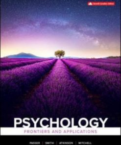 Test Bank for Psychology: Frontiers And Applications 7th Canadian Edition Passer