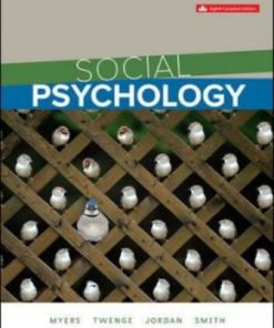 Test Bank for Social Psychology 8th Canadian Edition Myers