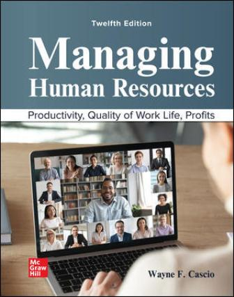 Test Bank for Managing Human Resources 12th Edition Cascio