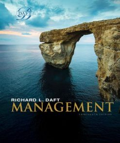 Solution Manual for Management 13th Edition Daft