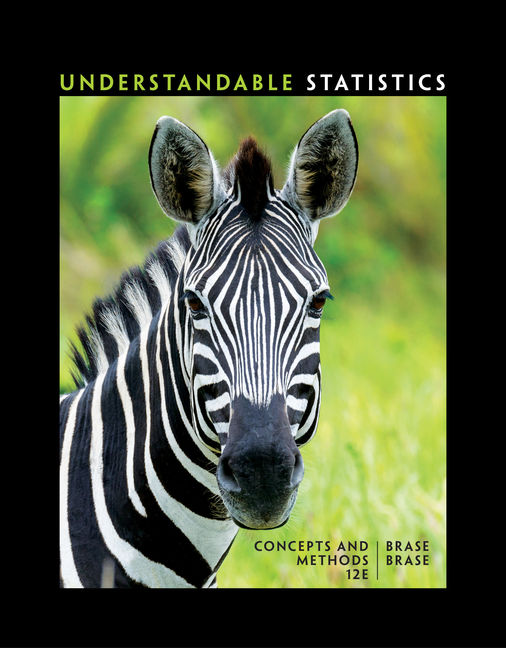 Test Bank for Understandable Statistics 12th Edition Brase