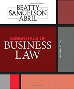 Test Bank for Essentials of Business Law 6th Edition Beatty