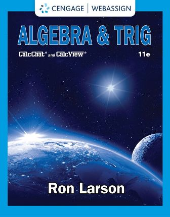 Test Bank for Algebra and Trig 11th Edition Larson