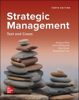 Test Bank for Strategic Management: Text and Cases 10th Edition Dess