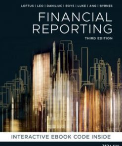 Test Bank for Financial Reporting 3rd Edition Loftus