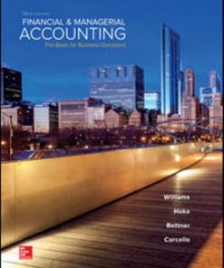 Test Bank for Financial and Managerial Accounting 18th Edition Williams