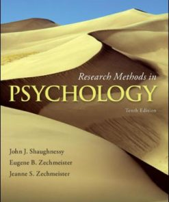 Solution Manual for Research Methods in Psychology 10th Edition Shaughnessy