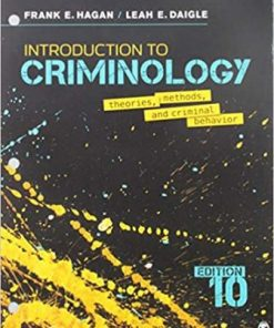 Test Bank for Introduction to Criminology 10th Edition Hagan